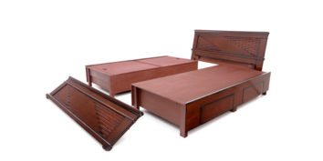 double bed - beds with storage - Beaufort or step brick Bed | Looking Good Furniture