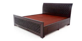 double bed - beds with storage - Chocolate Bed | Looking Good Furniture