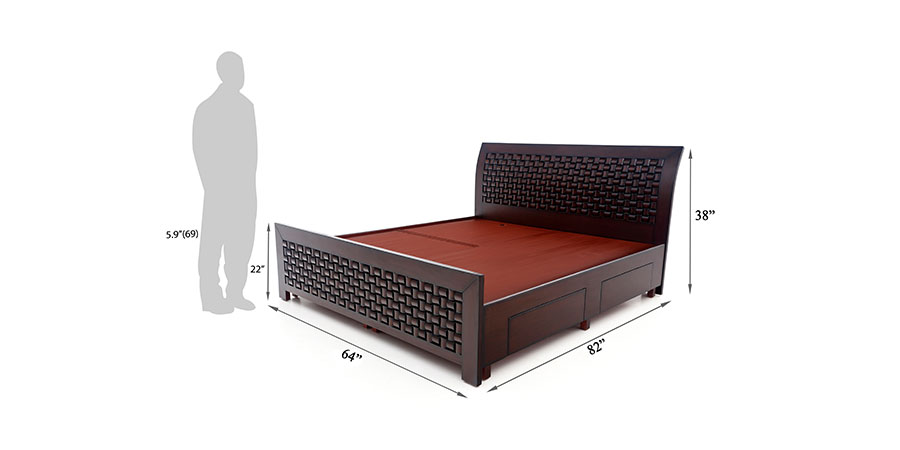 Beds - beds with storage - Chocolate bed | Looking Good Furniture