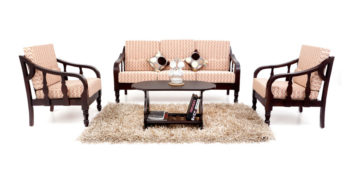 Wooden Sofa - Rumex Sofa set 3+1+1 | Looking Good Furniture