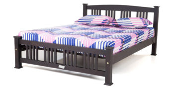 double bed - beds without storage - Vertical Strip bed | Looking Good Furniture