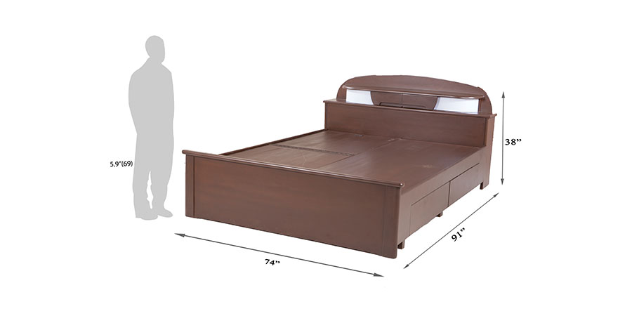 Beds - beds with storage - Bulb bed | Looking Good Furniture