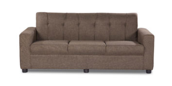 Fabric sofa sets - Afiffa Brown sofa 3 Seater | Looking Good Furniture