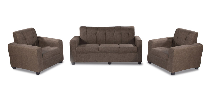 Fabric sofa sets - Afiffa Brown sofa Set 3+1+1 | Looking Good Furniture