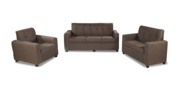 Fabric sofa sets - Afiffa Brown sofa Set 3+2+1 | Looking Good Furniture