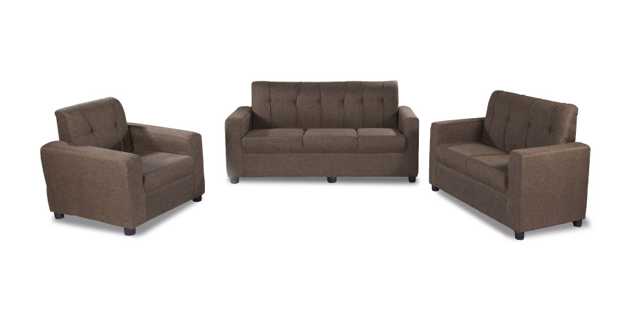 Fabric sofa sets - Afiffa Brown sofa Set 3+2+1 | Looking Good Furniture