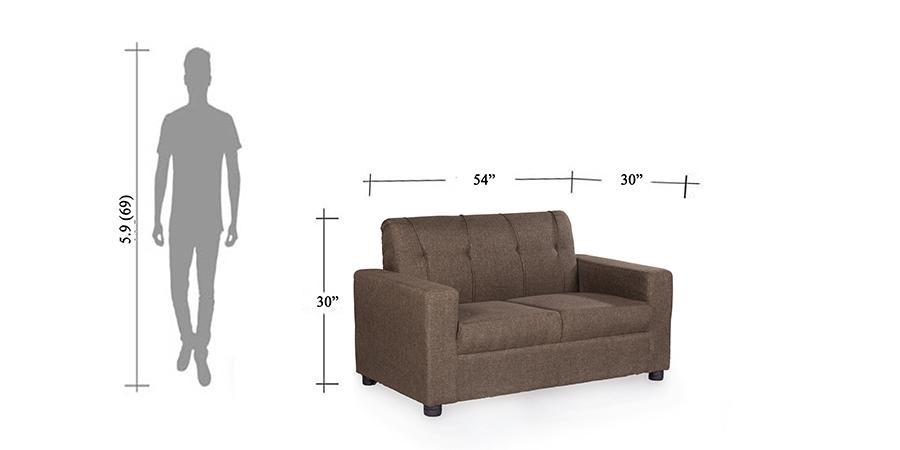 Sofa - fabrick sofa - Afifa brown sofa 2 seater   Looking Good Furniture