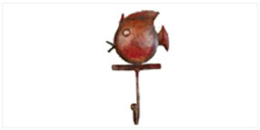 Decor - Utility Decor- Animal Hooks - Fish Single hook copper | Looking Good Furniture0