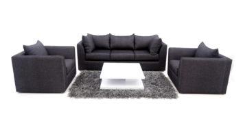 Fabric sofa sets - Linen Sofa Set 3+1+1 | Looking Good Furniture