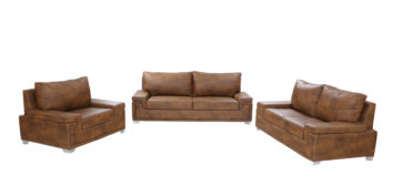 Leatherette sofas - Allium Sofa Set 2+2+1 | Looking Good Furniture