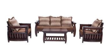 wooden sofa sets - Arachis Sofa Set 3+1+1 | Looking Good Furniture