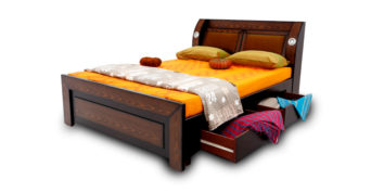 double bed - beds with storage - Bulb Design Bed | Looking Good Furniture