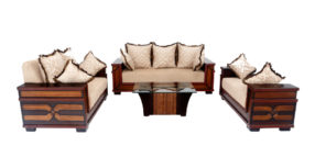 wooden sofa sets - Lepidium Sofa Set 3+2+Divan | Looking Good Furniture
