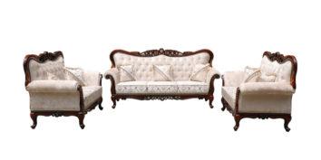 carving sofa - Lotus Sofa Set 3+2+2   Looking Good Furniture