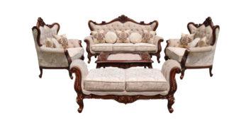 carving sofa - Nawab Sofa Set 3+2+2+D   Looking Good Furniture