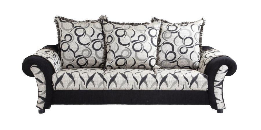 Comfy Sofa Set Black 3 1 Divan 2puffy