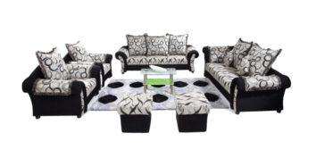 Fabric sofa sets - Otura Sofa Set black 3+1+1 | Looking Good Furniture