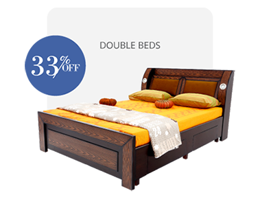 double bed - beds-with-storage - Bulb Design bed | Looking Good Furniture