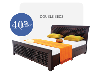 double bed - beds-with-storage - Chocolate bed | Looking Good Furniture