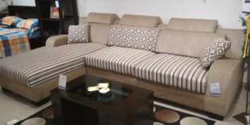 Looking Good Furniture | Ready to be Shipped - Ashley L shape sofa set