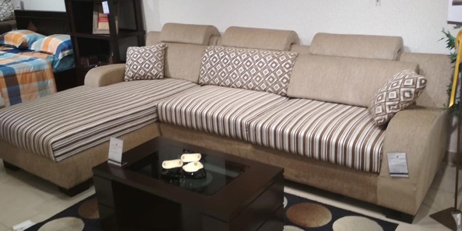 Ashley L Shape Sofa Set 3 Seater Divan Dickenson Road