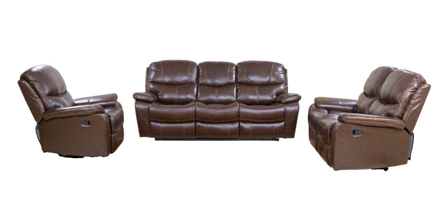 Pure Leather Recliner Sofa Set (3+2+1)